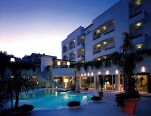 Hotel Belvedere at dusk